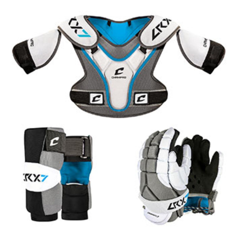 Champro LRX7 Lacrosse Box Set Grey Extra Small