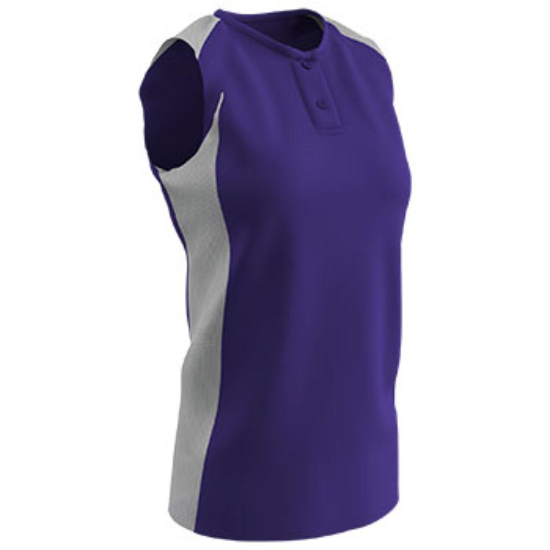 Champro Girls Diamond Active Jersey Purple White Medium