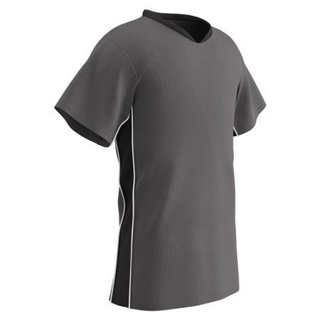 Champro Adult Header Soccer Jersey Charcoal Black White SM