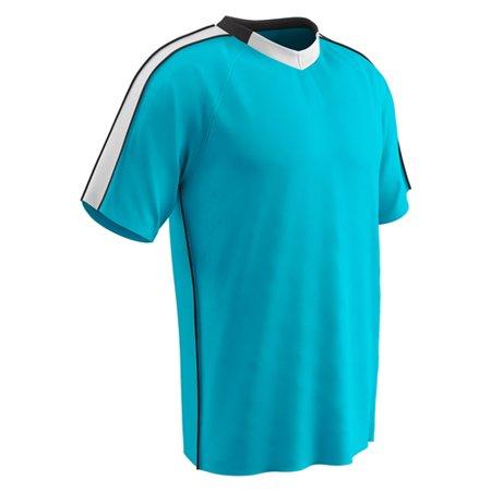 Champro Adult Mark Soccer Jersey Neon Blue White Black Large