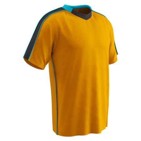 Champro Adult Mark Soccer Jersey Neo Orange Neo Blue Blk SM