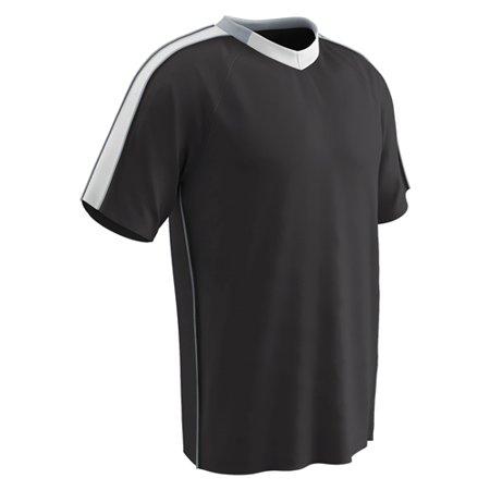 Champro Youth Mark Soccer Jersey Black White Silver Xlarge