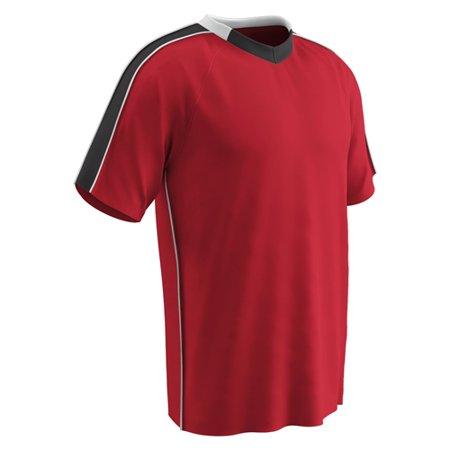 Champro Youth Mark Soccer Jersey Scarlet Black White Medium
