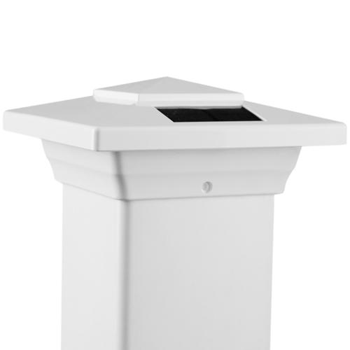 4x4 WHITE PVC WINDSOR SOLAR POST CAP