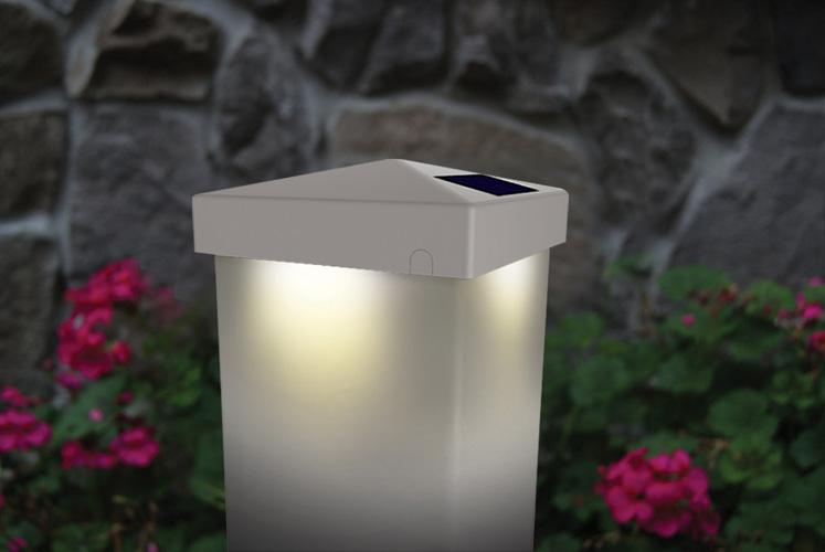 4x4 WHITE PVC PYRAMID SOLAR POST CAP