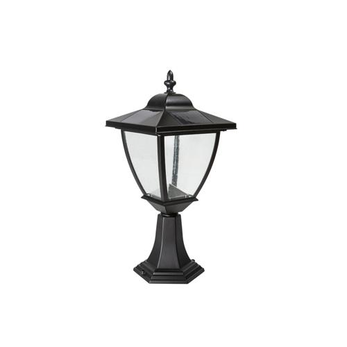 BLACK ALUMINUM ELEGANTE SOLAR LAMP