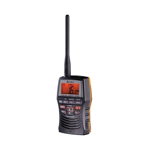 COBRA - MRHH150FLT  3 WATT VHF HANDHELD MARINE RADIO WITH NOAA WEATHER & ALERTS, SUBMERSIBLE FOR 30 MINUTES