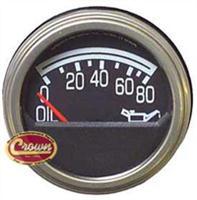 Metal Black Oil Pressure Gauge