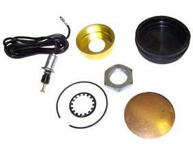 Metal Black Horn Button Kit