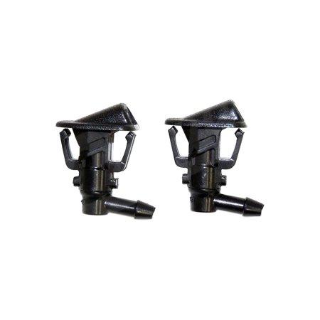 Plastic Black Windshield Washer Nozzle Set