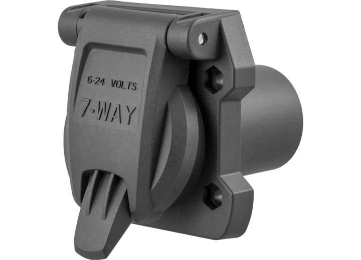 HEAVY-DUTY REPLACEMENT OEM 7-WAY RV BLADE SOCKET