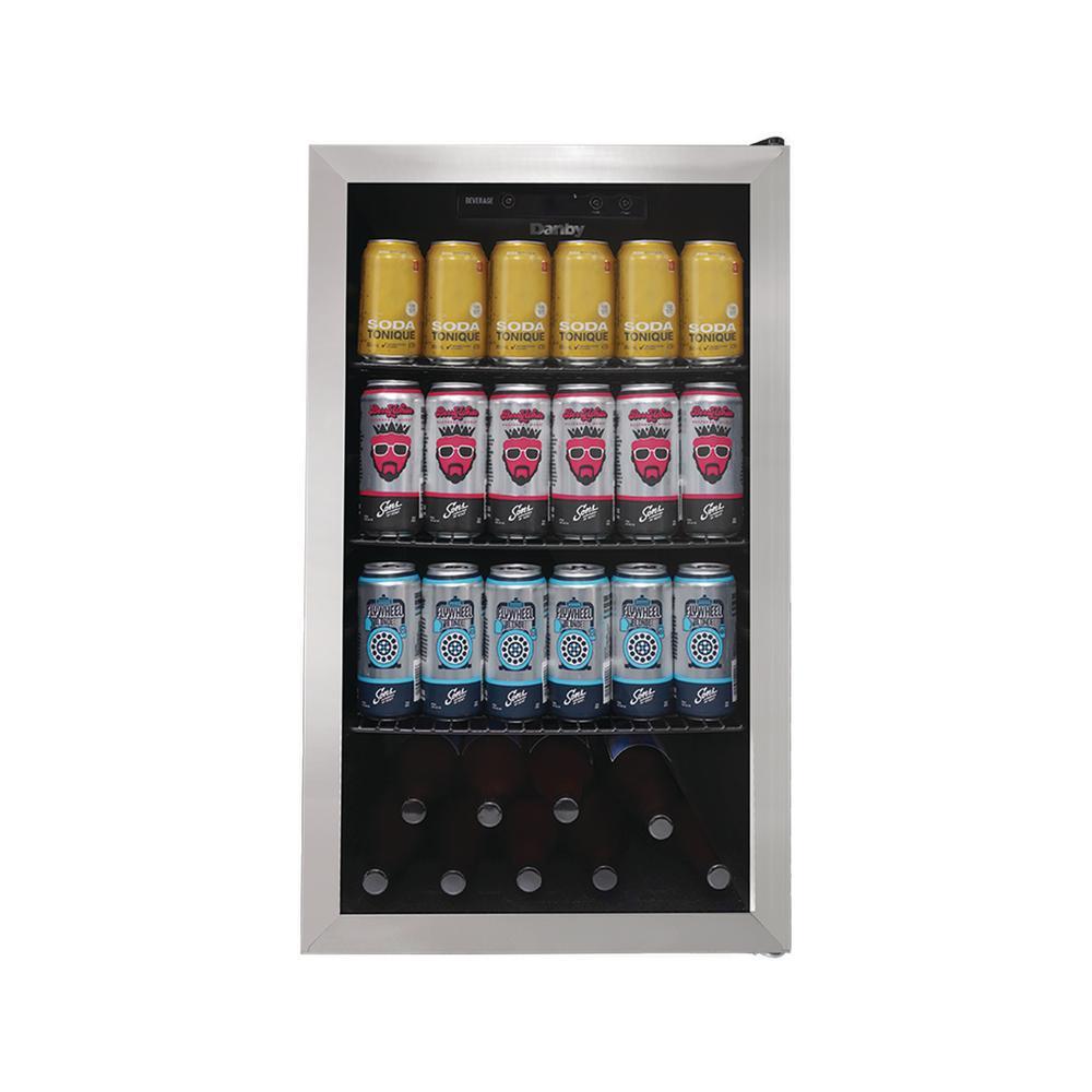 4.4 CuFt Beverage Center, Holds 32 Bottles and 160 Beverage Cans
