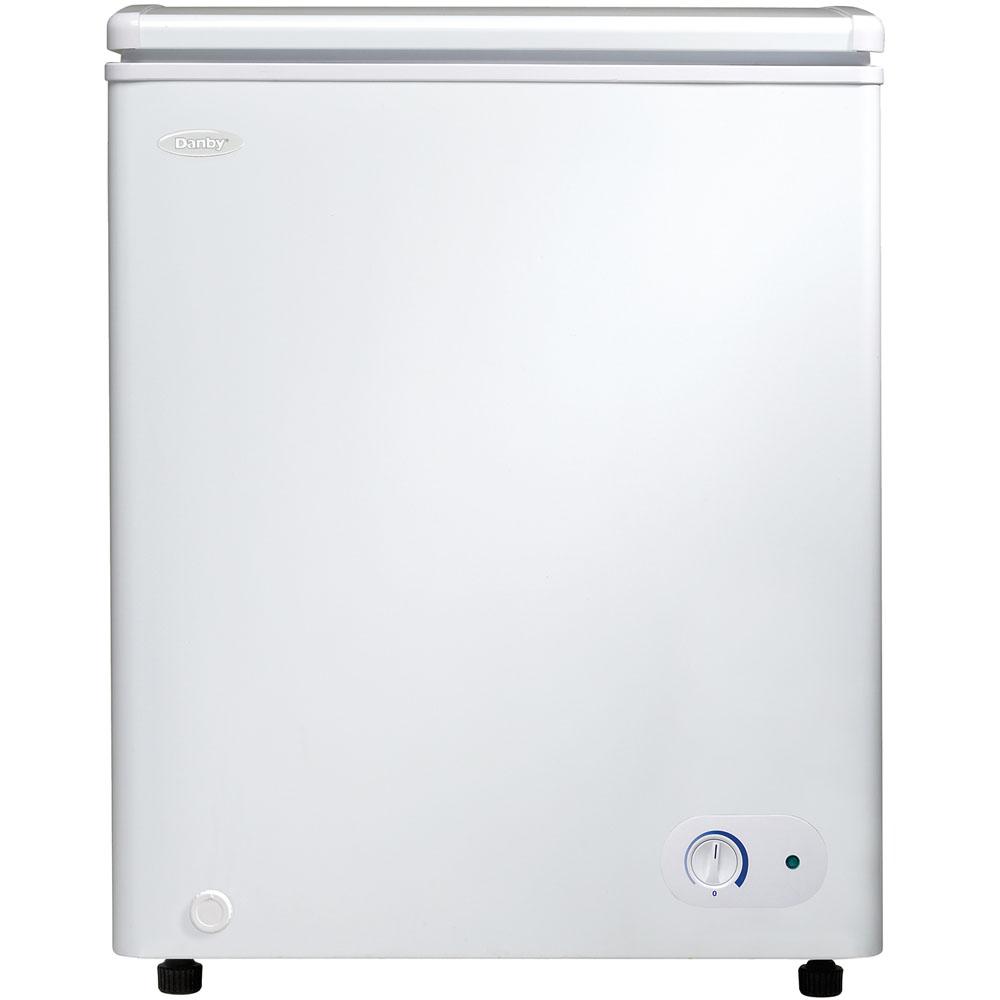 3.8 Cu.Ft. Chest Freezer, 1 Basket, Up Front Temperature Control