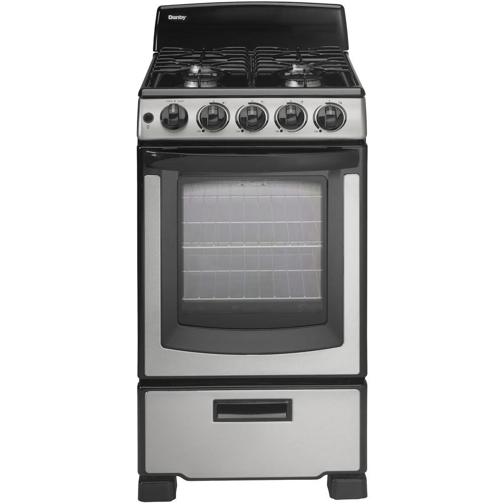"20"" Gas Range, 2 Oven Racks,Window, 4 Open Burners, ADA, Manual Clean"