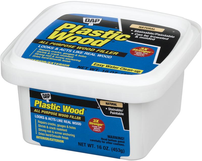00529 PINT NATURAL LATEX PLASTIC WOOD