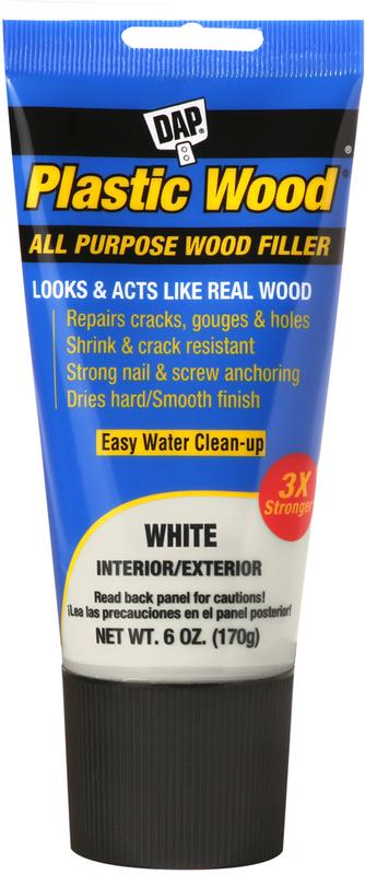 00585 6OZ WHITE PLASTIC WOOD