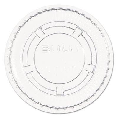 Portion/Souffl� Cup Lids. Fits .5-1oz Cups, Clear, 2500/Carton