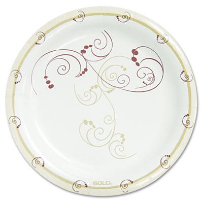 """Symphony Paper Dinnerware, Mediumweight Plate, 8 1/2"""", Tan, 500/Carton"""