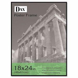 Coloredge Poster Frame, Clear Plastic Window, 18 x 24, Black