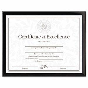 Value U-Channel Document Frame w/Certificates, 8 1/2 x 11, Black