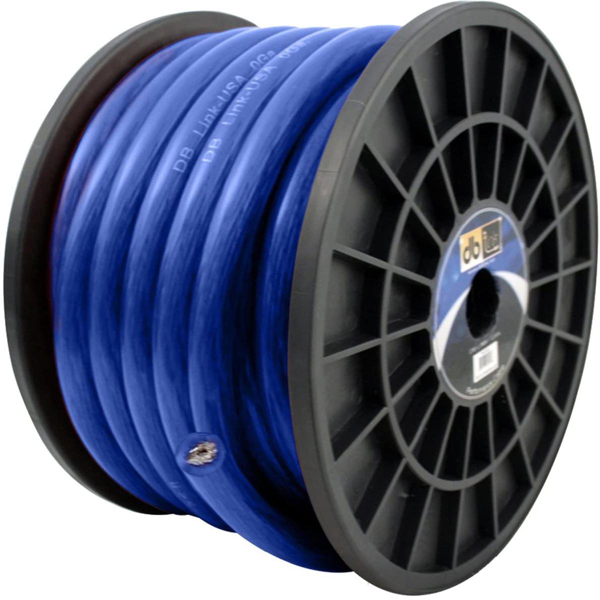 0GA BLUE 50 FT POWER WIRE ROLL