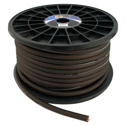 4GA/100'POWER CBLE SOFT TOUCH/FLEX BLACK