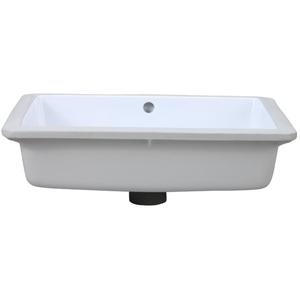19 Rectangle Ceramic Undercounter Lavatory White