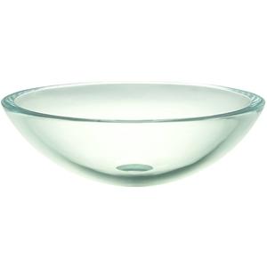 17 One Hole Round 19MM Glass Vessal TRANS Cream Stone