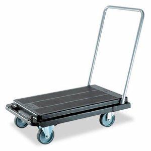Heavy-Duty Platform Cart, 500lb Capacity, 21w x 32 1/2d x 37 1/2h, Black
