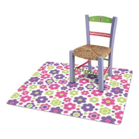 FashionMat Chair Mat, Rectangular, 35 x 40, Daisies