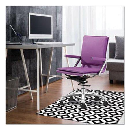 FashionMat Chair Mat, Rectangular, 35 x 40, Diamonds
