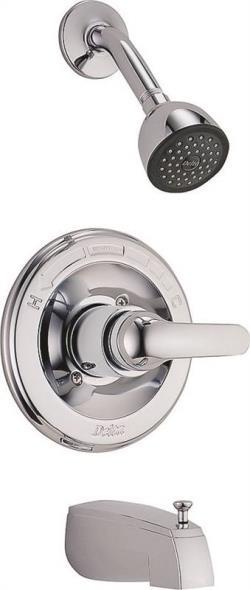 Tub-Shower Faucet Single Chrome