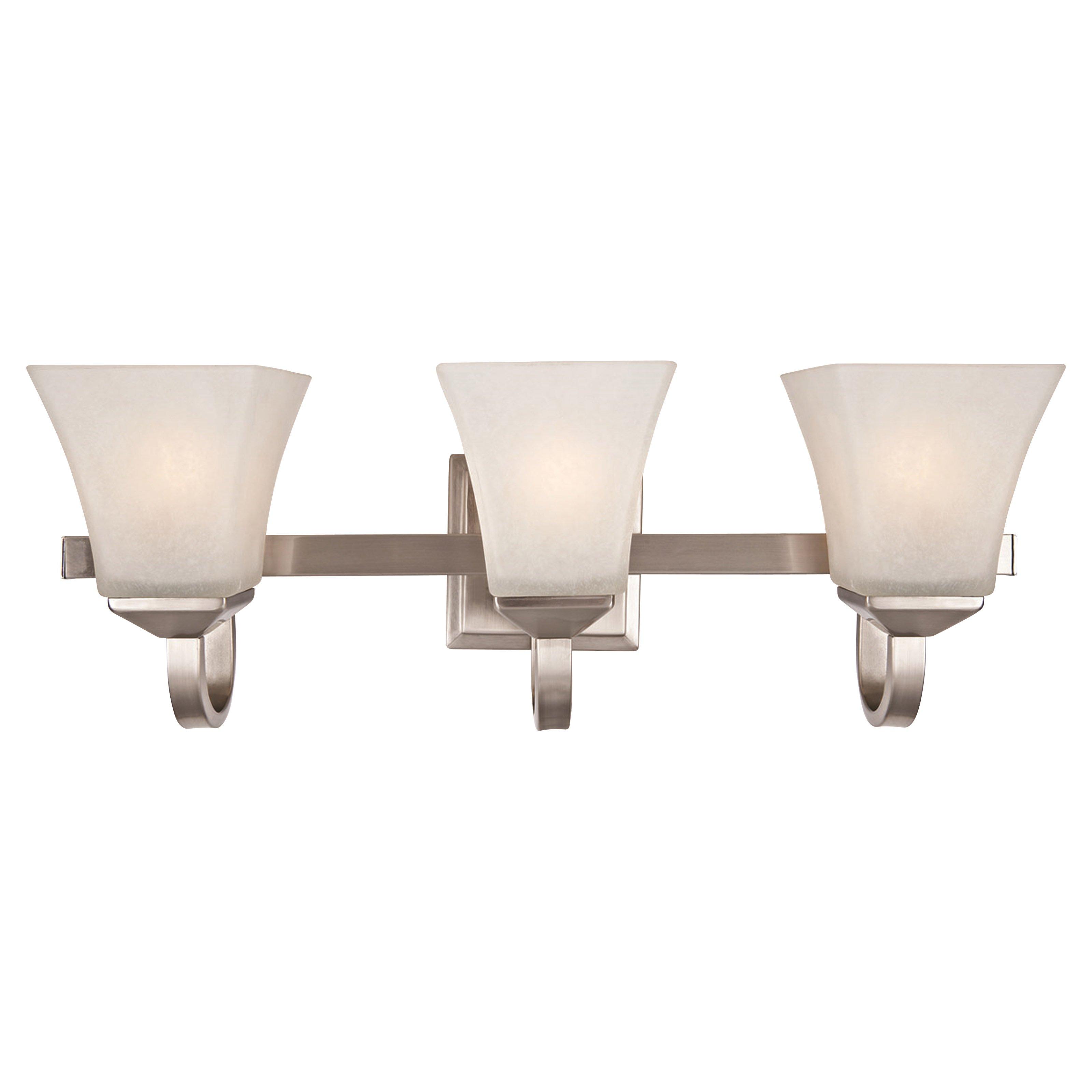 Torino 3-Light Vanity Light, Satin Nickel