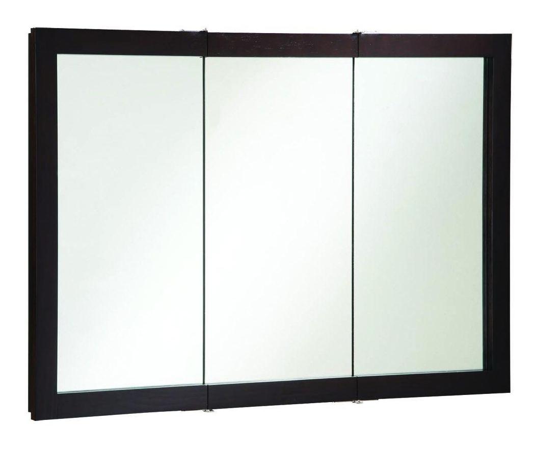 "Ventura Espresso Tri-View Medicine Cabinet Mirror, 48"" by 30"""