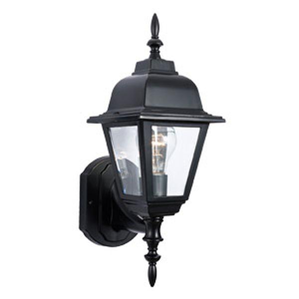 Maple Street Outdoor Uplight, 6-Inch by 17-Inch, Black Die-Cast Aluminum