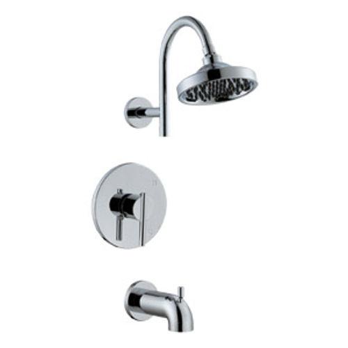 Geneva Tub and Shower Faucet, Polished Chrome