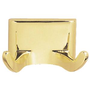 Millbridge Double Robe Hook, Polished Brass