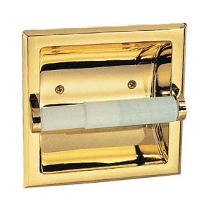 Millbridge Recessed Toilet Paper Holder, Polished Brass