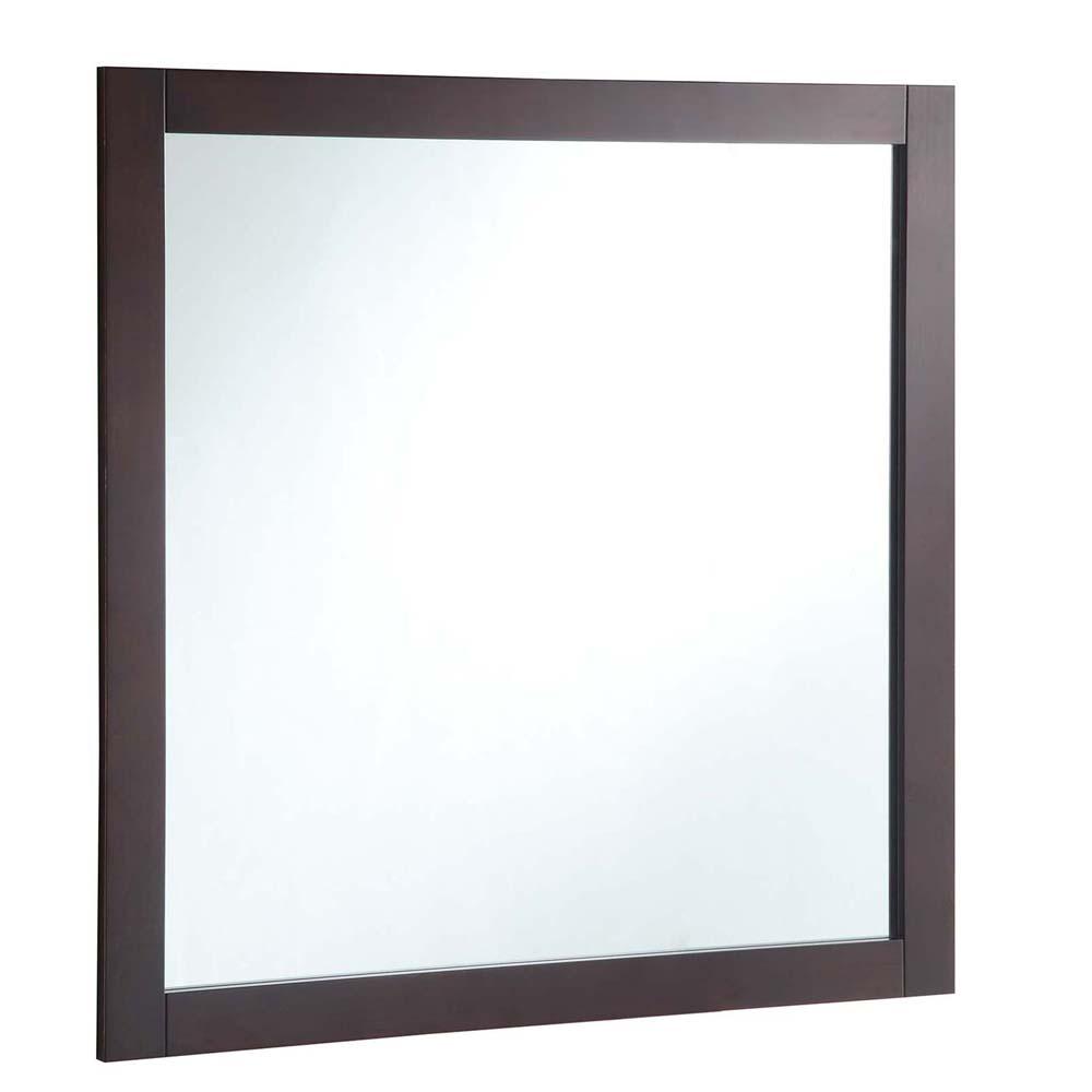 Design House 547091 30-inch by 30-inch Vanity Mirror, Espresso