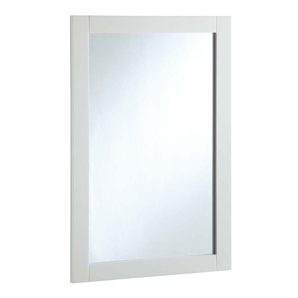 Design House 547208 20-inch by 30-inch Vanity Mirror, Semi-Gloss White