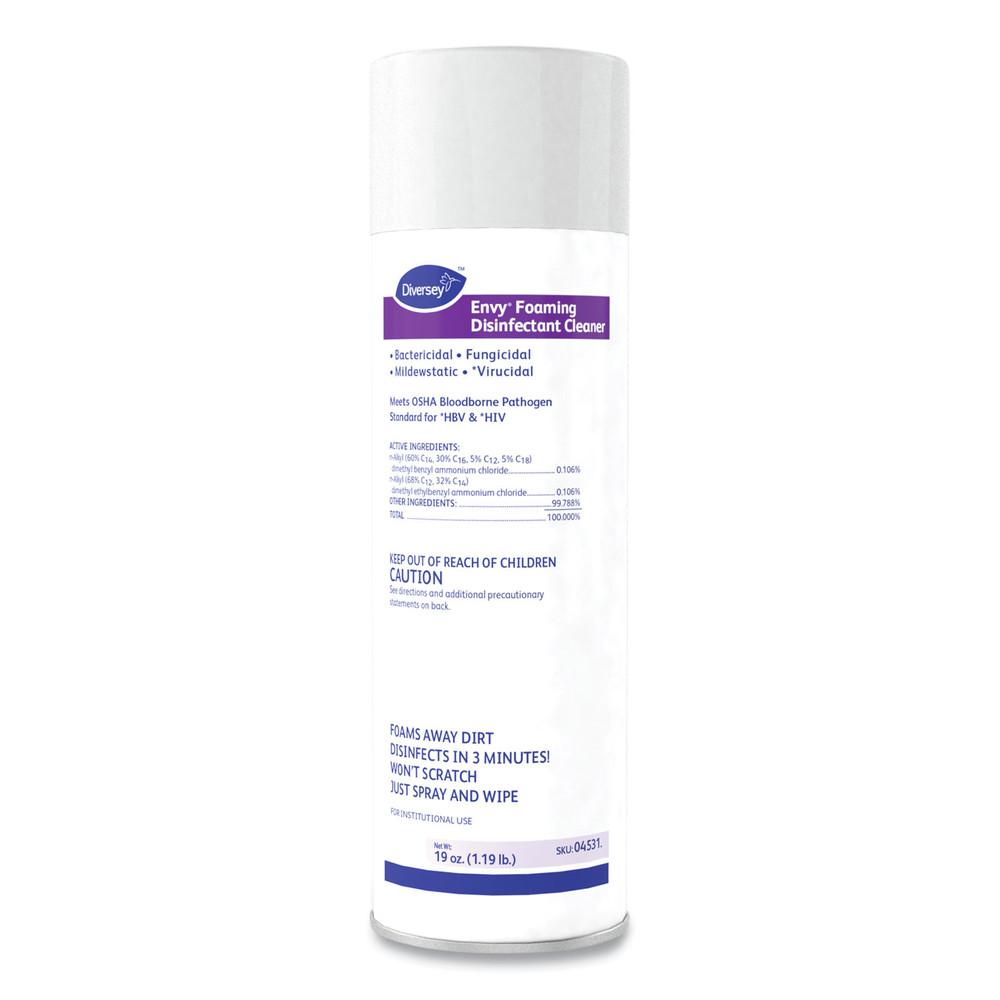 Foaming Disinfectant Cleaner, Lemon Scent, 19 oz. Aerosol Can