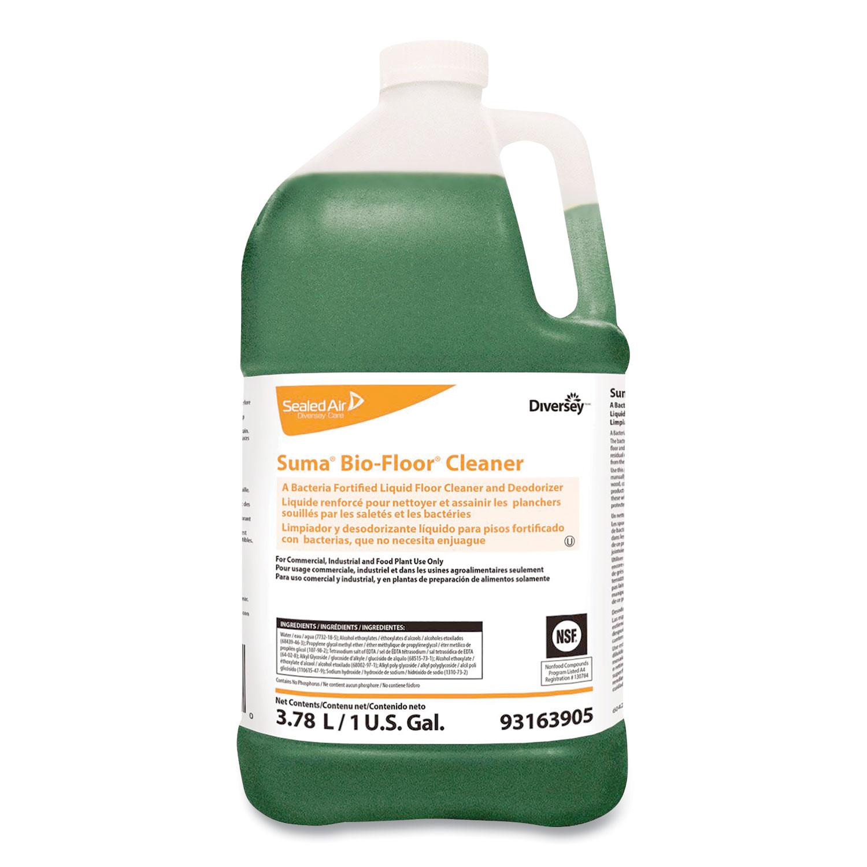 Suma Bio-Floor Cleaner, Unscented, Liquid, 1 gal, 4/Carton