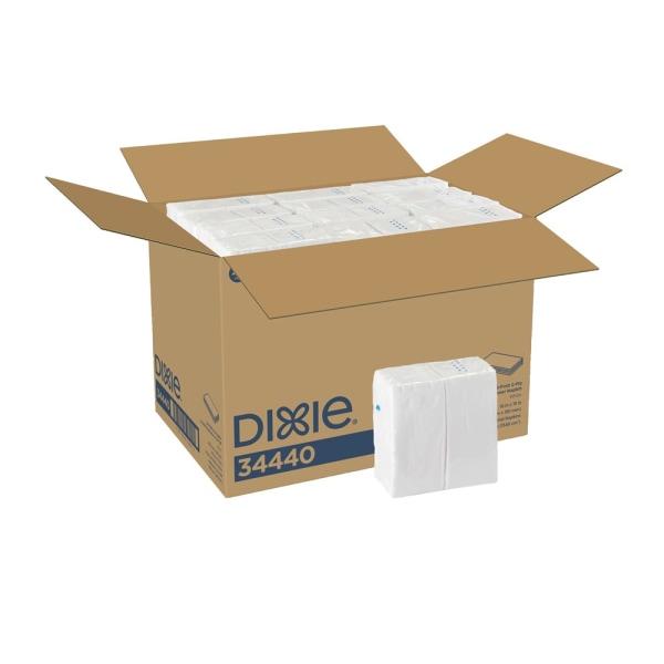 1/8-Fold Dinner Napkin, 2-Ply, 16 x 15, White, 3,024/Carton