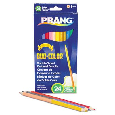 Duo-Color Colored Pencil Sets, 3 mm, Assorted Colors, 12/Set