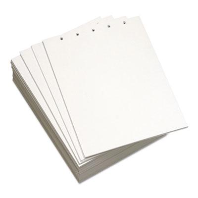Custom Cut-Sheet Copy Paper, 92 Bright, 5-Hole, 20lb, 8.5 x 11, White, 500/Ream