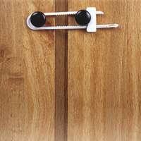 Dorel 11002 Safety Cabinet Slide Lock, 2-1/4 in W, Plastic