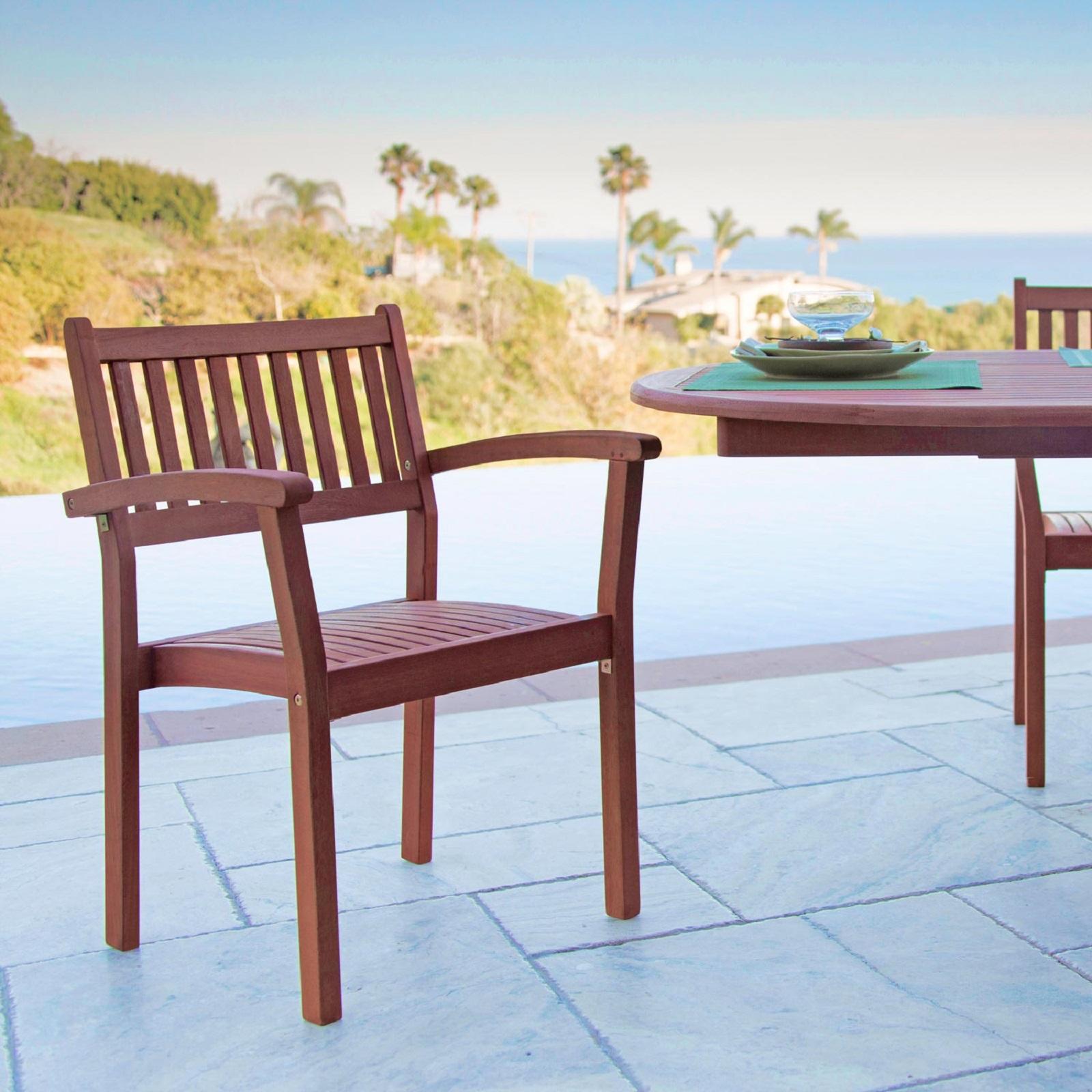 Malibu Outdoor Garden Stacking Armchair (Set of 2)