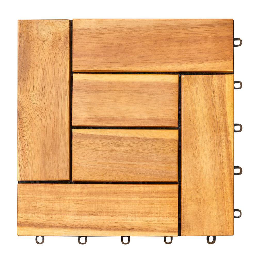 Hanalei Acacia Interlocking Wooden Decktile in Honey