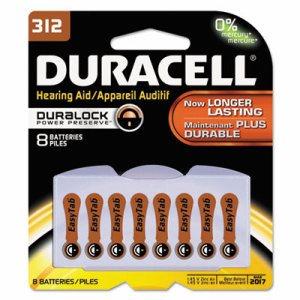 Button Cell Zinc Air Battery, #312, 8/Pk