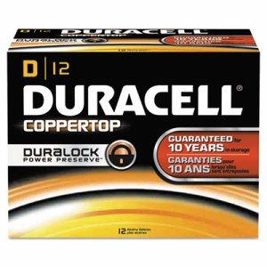 CopperTop Alkaline Batteries with Duralock Power Preserve Technology, D, 12/Box